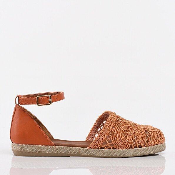 Resim Turuncu Yaya Kadın Günlük Ayakkabı