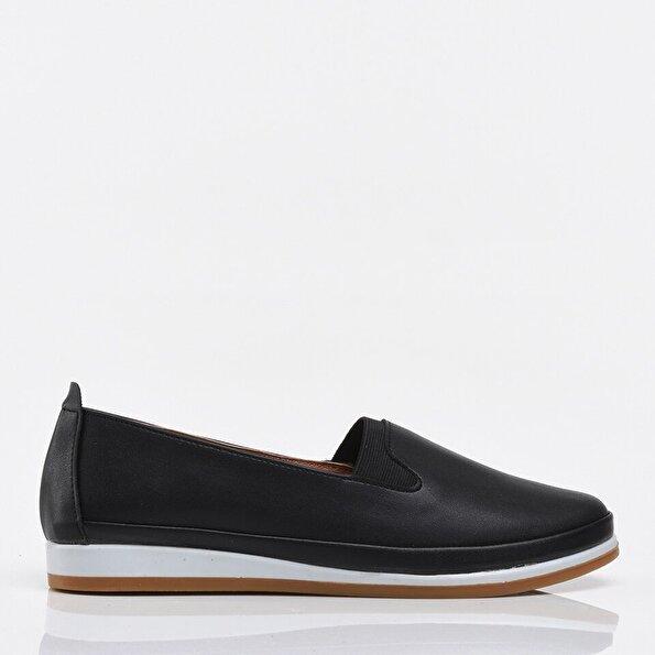 Resim Siyah Yaya Kadın Günlük Ayakkabı