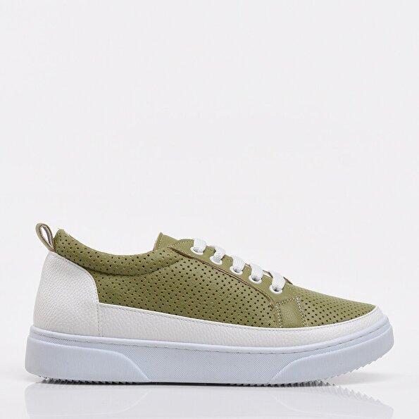 Resim Yeşil Yaya Kadın Spor Ayakkabı