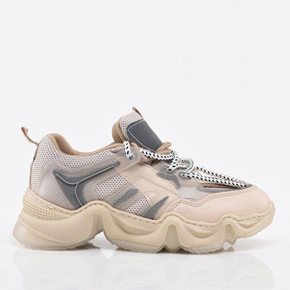 Resim Bej Kadın Spor Ayakkabı