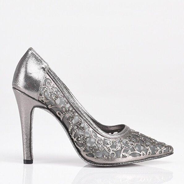 Resim Platin Yaya Kadın Topuklu Ayakkabı
