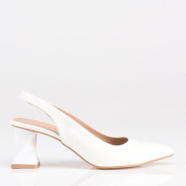 Resim Beyaz Yaya Kadın Topuklu Ayakkabı