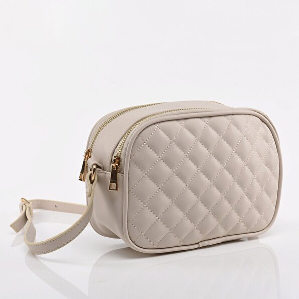Resim Bej Kadın Mini (Çapraz) Çanta