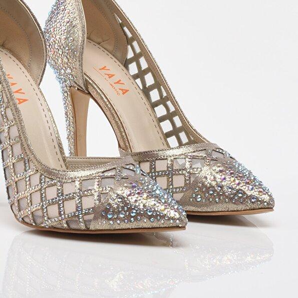 Resim Gold Yaya Kadın Topuklu Ayakkabı