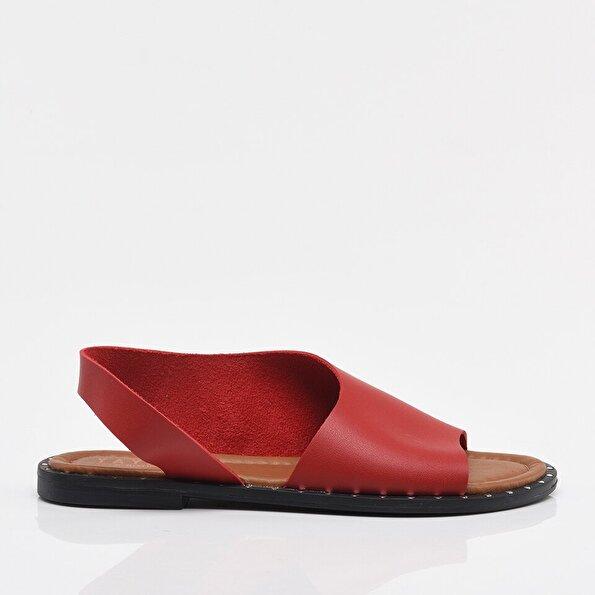 Resim Kırmızı Yaya Kadın Sandalet & Terlik
