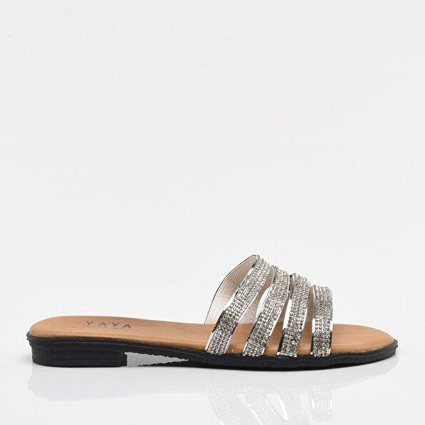 Resim Lame Yaya Kadın Sandalet & Terlik