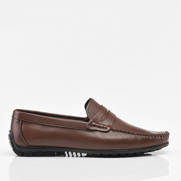 Resim Hakiki Deri Kahve Erkek Günlük Ayakkabı