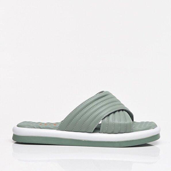 Resim Yeşil Yaya Kadın Sandalet & Terlik