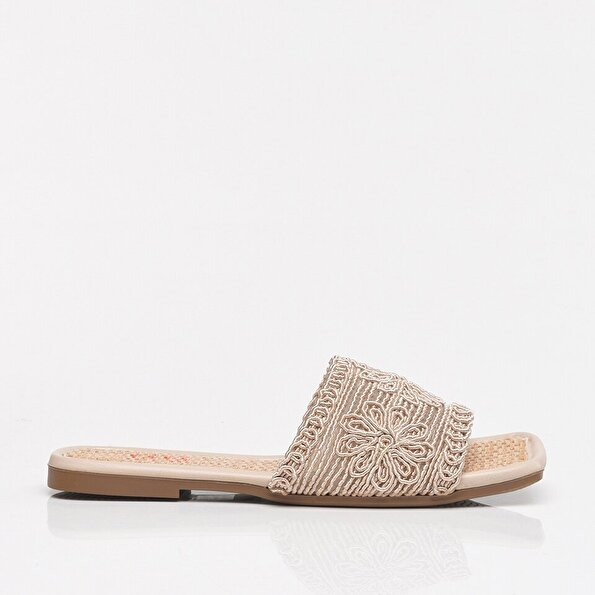 Resim Bej Yaya Kadın Sandalet & Terlik