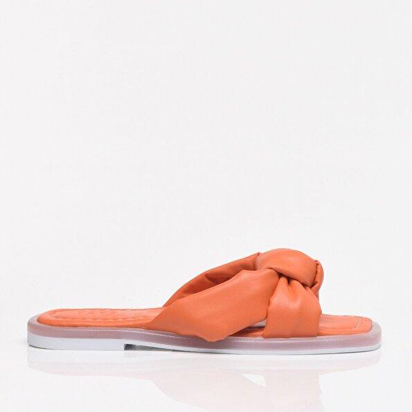 Resim Turuncu Yaya Kadın Sandalet & Terlik