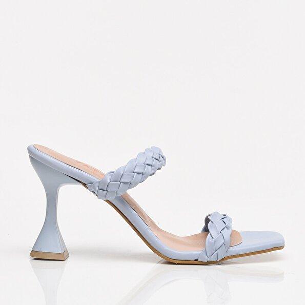 Resim Açık Mavi Yaya Kadın Sandalet & Terlik