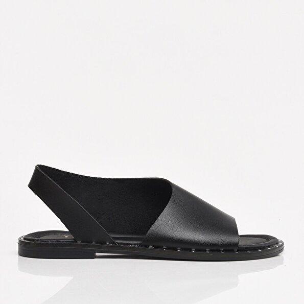 Resim Siyah Yaya Kadın Sandalet & Terlik