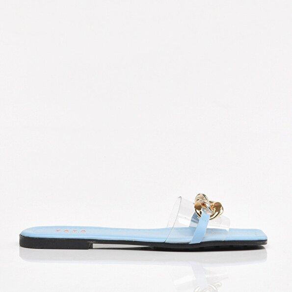 Resim Mavi Yaya Kadın Sandalet & Terlik