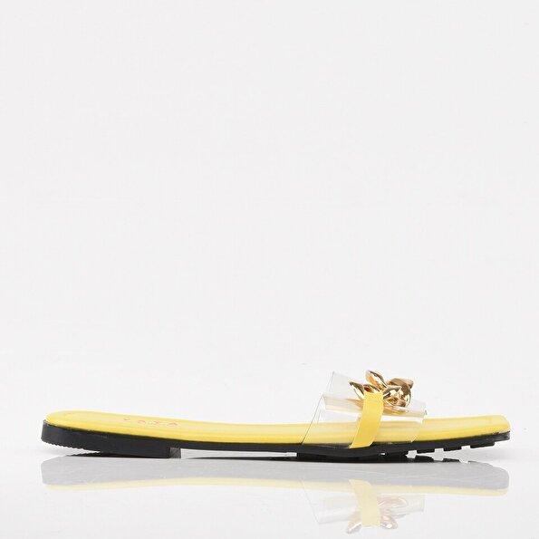 Resim Sarı Yaya Kadın Sandalet & Terlik