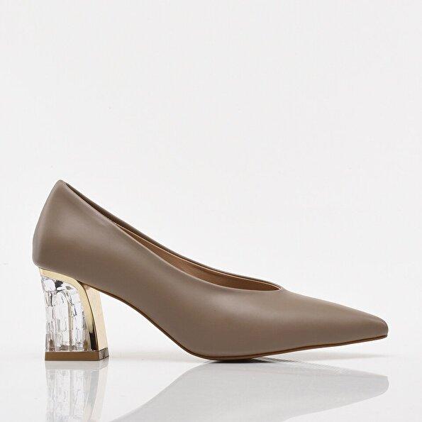 Resim Vizon Yaya Kadın Topuklu Ayakkabı