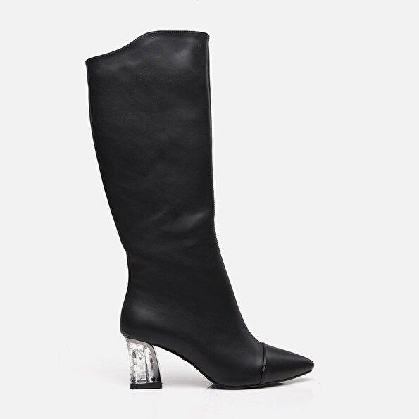 Resim Siyah Yaya Kadın Bot & Çizme
